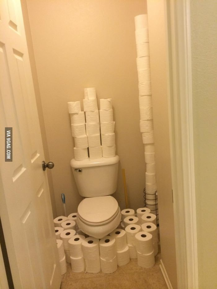 Asked my wife for the 100th time to refill the bathroom with TP when she uses the last roll...