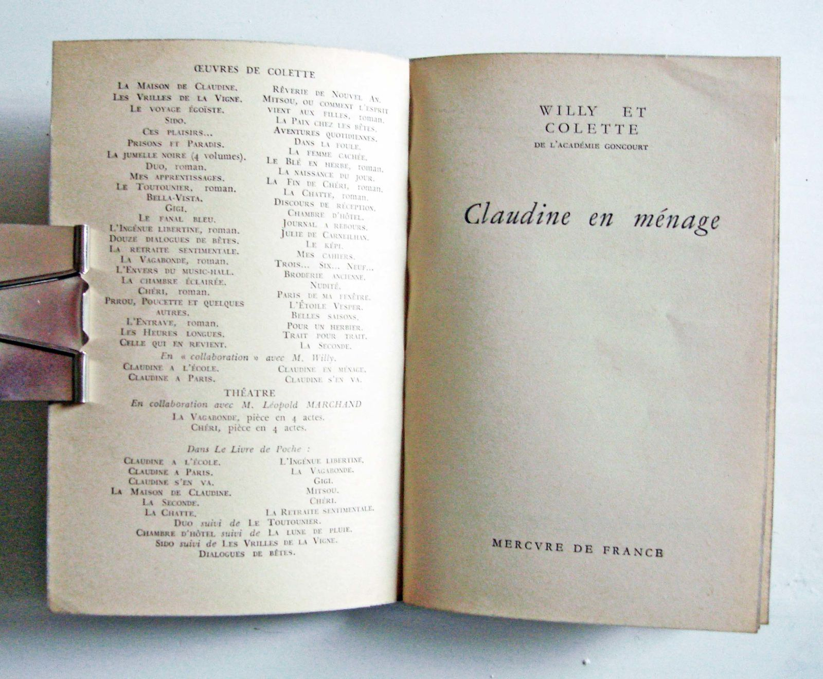 Colette - Pages Choisies