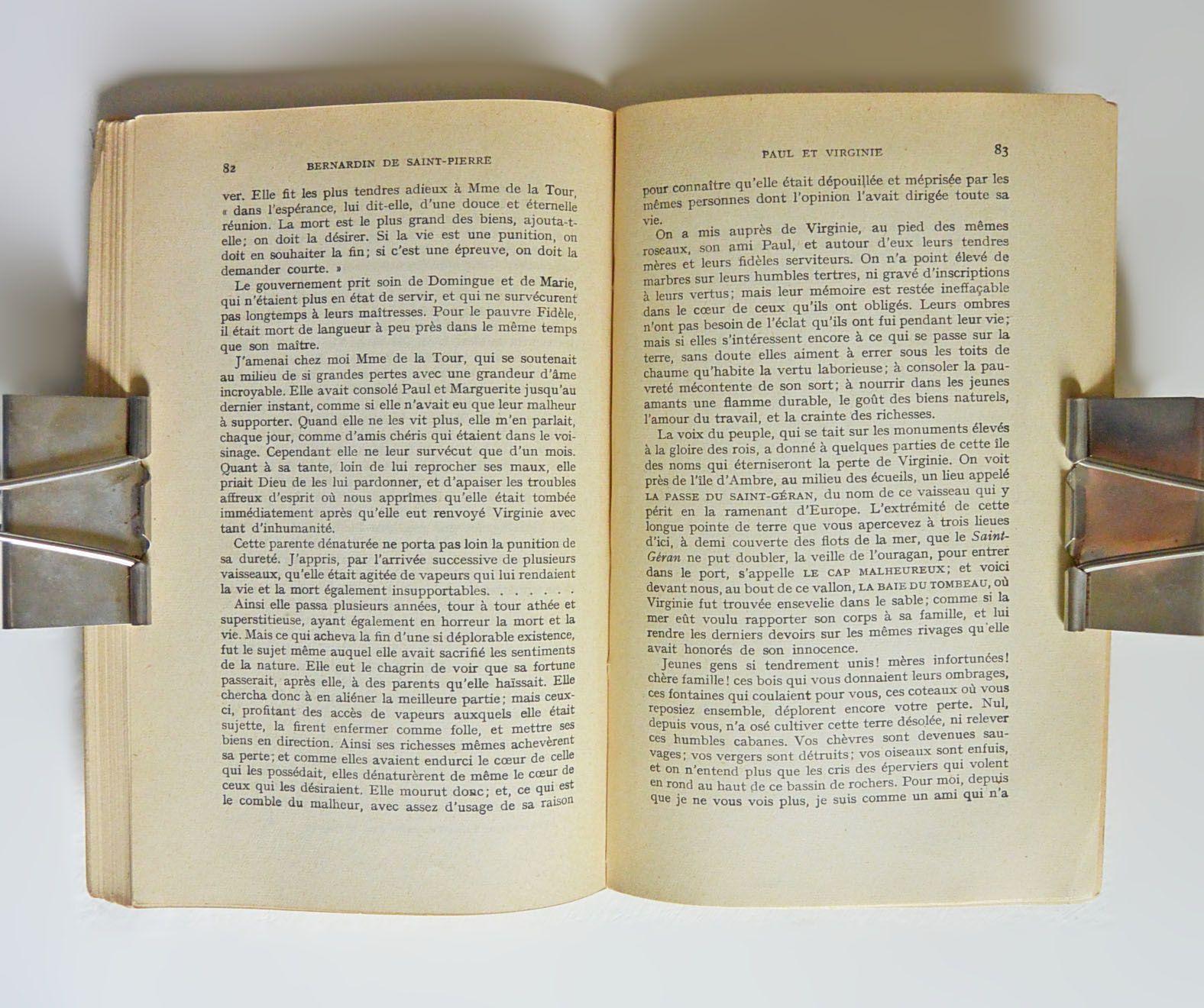&quot&#x3B;Paul et Virginie&quot&#x3B; Bernardin de Saint Pierre, Hatier 1930