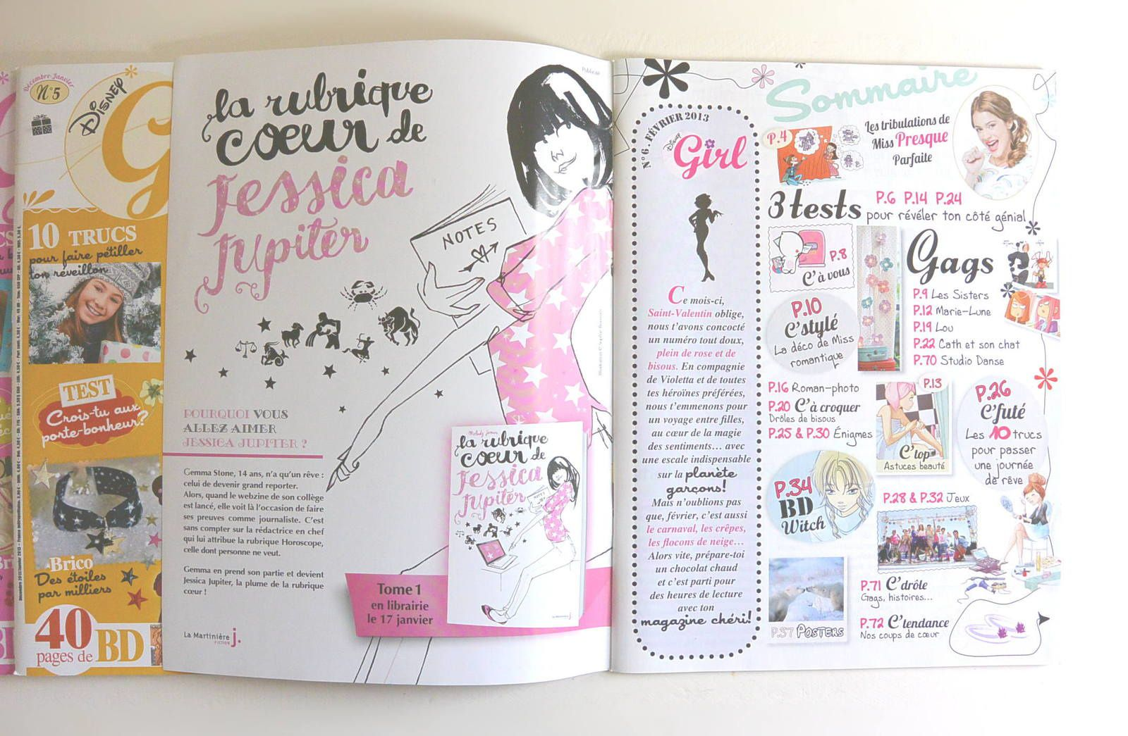 5 magazines Disney Girl© de 01 à 06