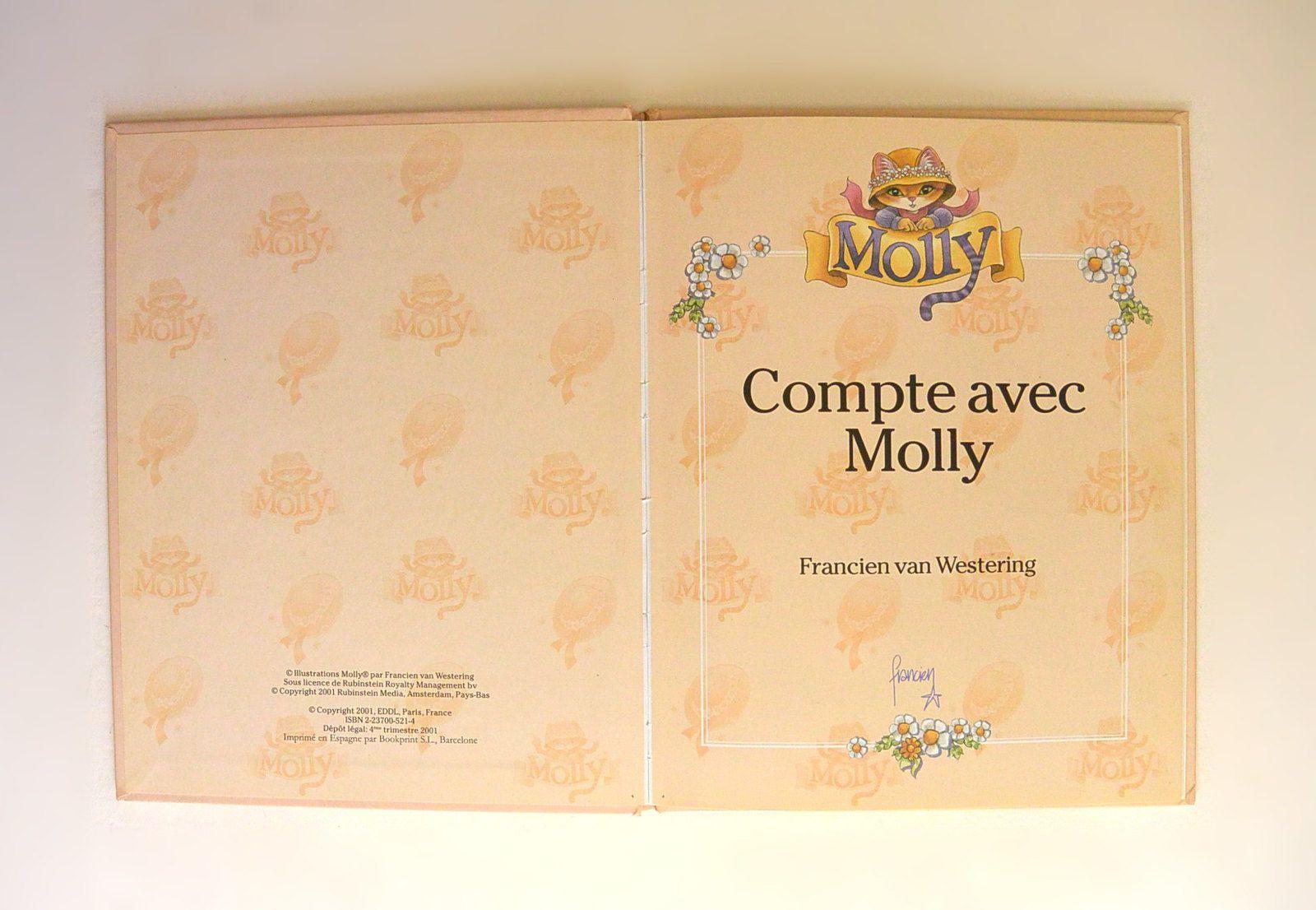 &quot&#x3B;Compte avec Molly&quot&#x3B; de Francien, ed. EDDL 2001