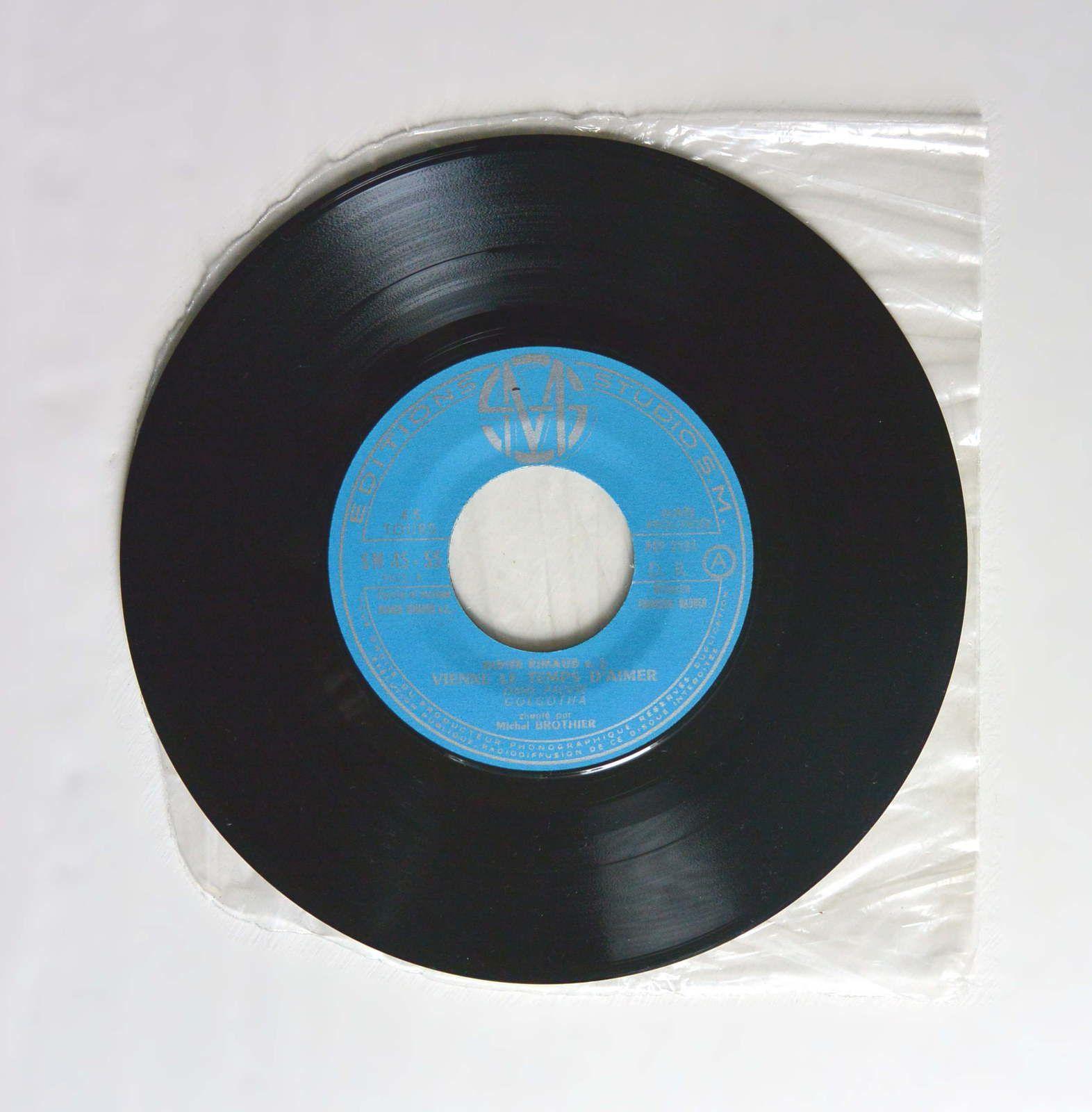Disque vinyle 45T M.Brothier &quot&#x3B;Vienne le temps d'aimer&quot&#x3B;