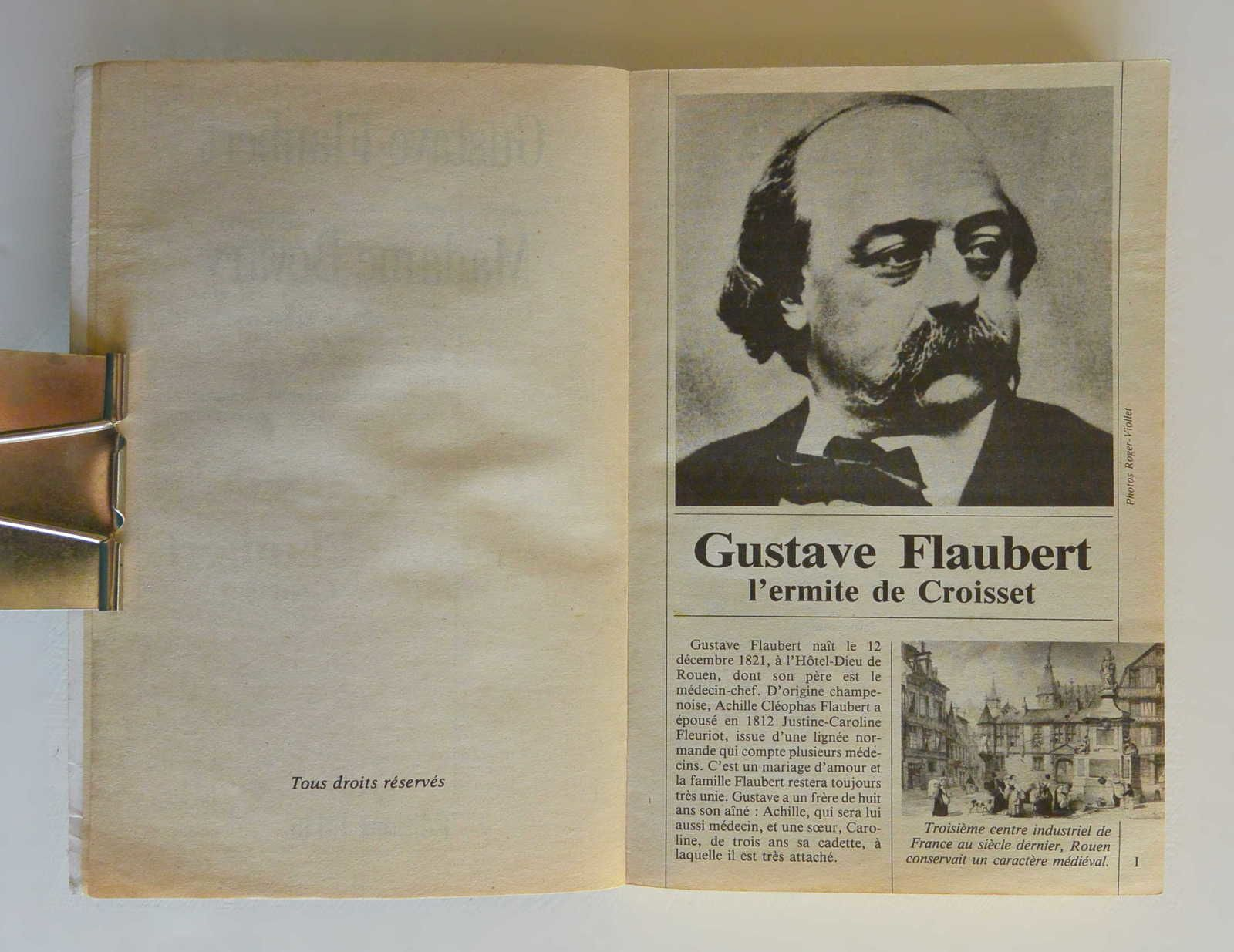 Livre &quot&#x3B;Madame Bovary&quot&#x3B; G.Flaubert, ed. J'ai Lu 1991