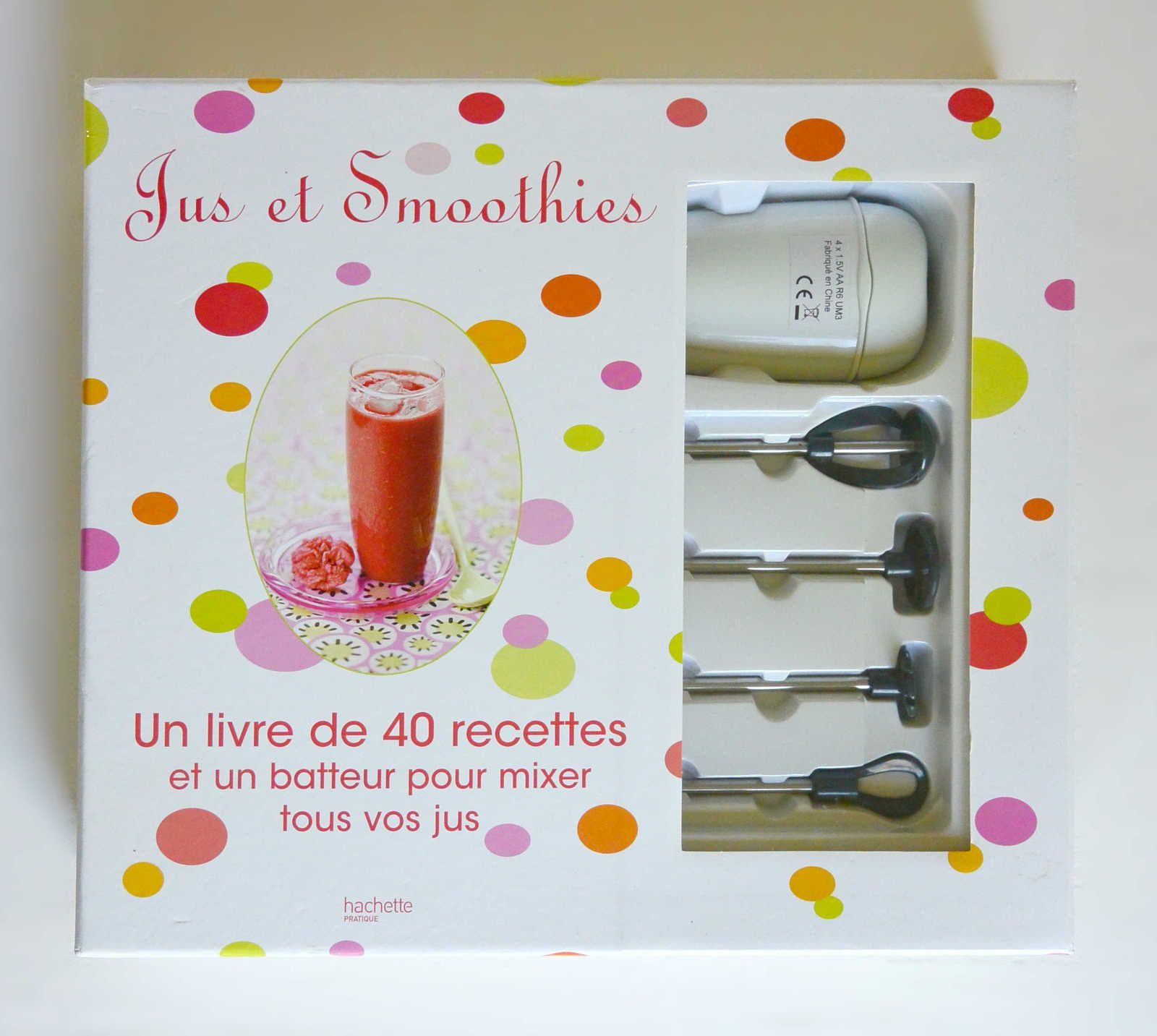 Coffret Jus et Smoothies: 40 recettes + 1 mixer, ed. Hachette neuf