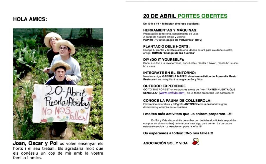 OPEN DAY 20 DE ABRIL 2013