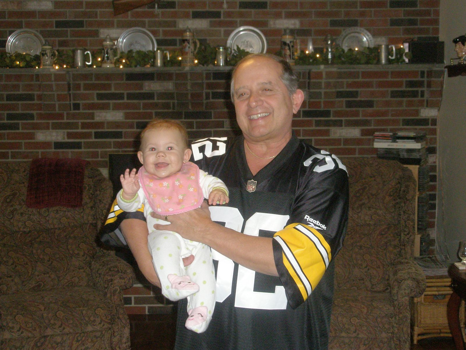 My Dad and my Daughter on Super Sunday, 2011