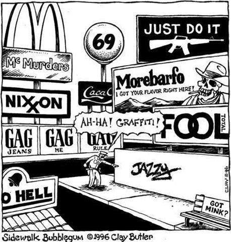 En fait si les Graffeurs payaient, ils auraient le droit de graffer !!!