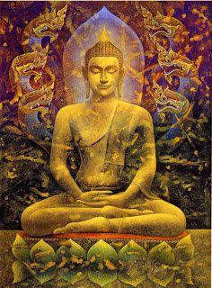 représentation peu fidèle du Bouddha Sakyamuni (mais l'image me plaît bien...)