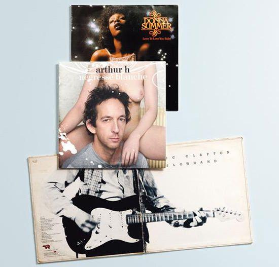 De l&#8217&#x3B;art avec des pochettes de disques