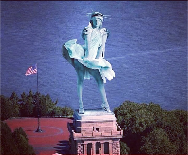La statue de la liberté VS #Sandy