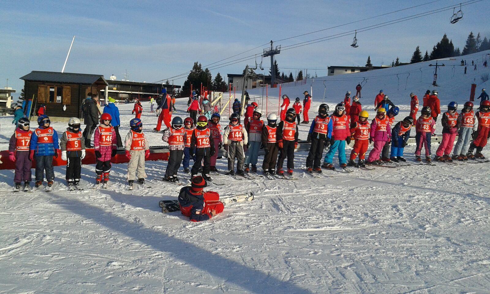 Lundi 23 janvier 2017 14h00 : première journée de ski