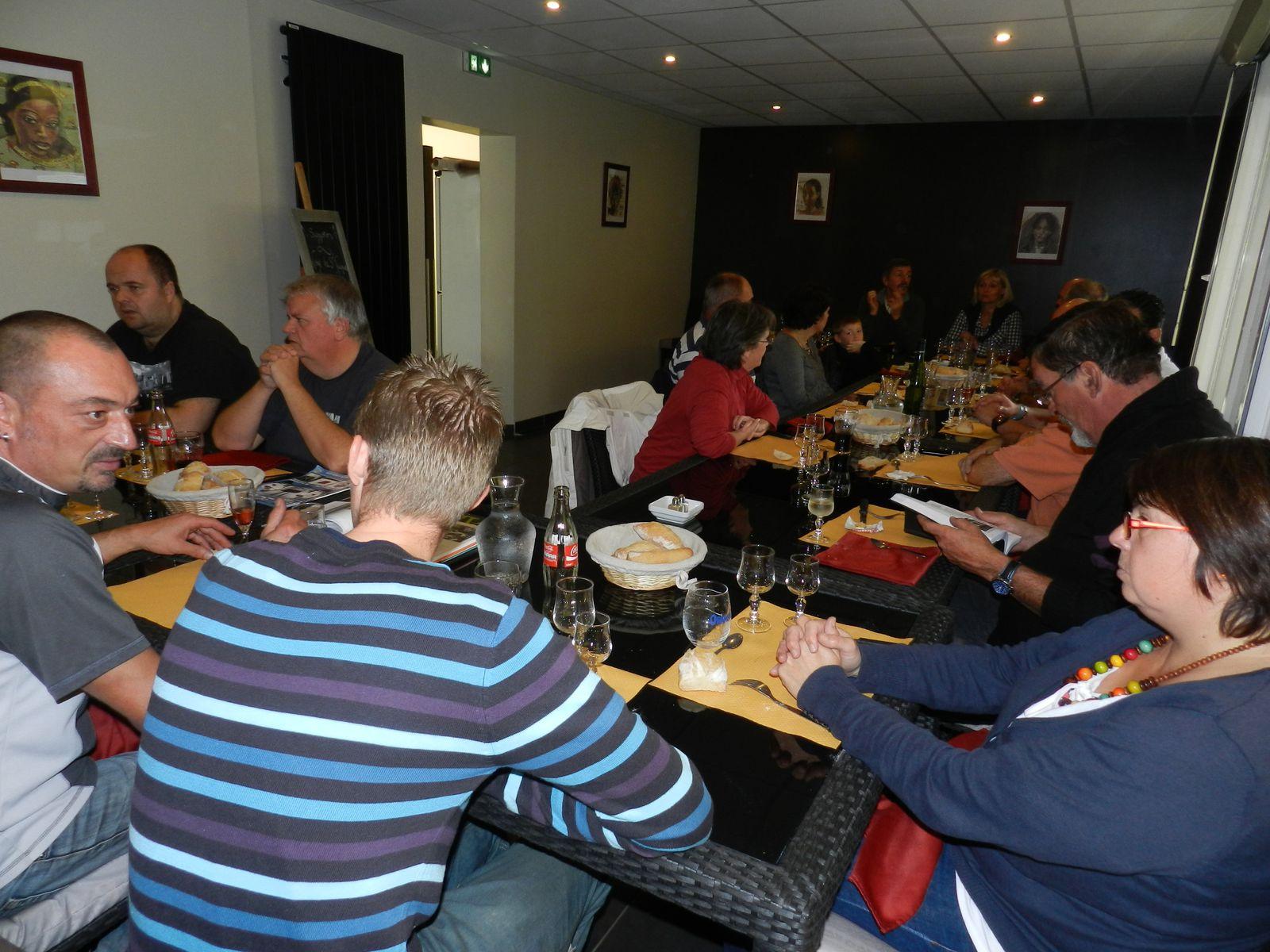 Le repas du 6/10/2012 au Chaudron Magique
