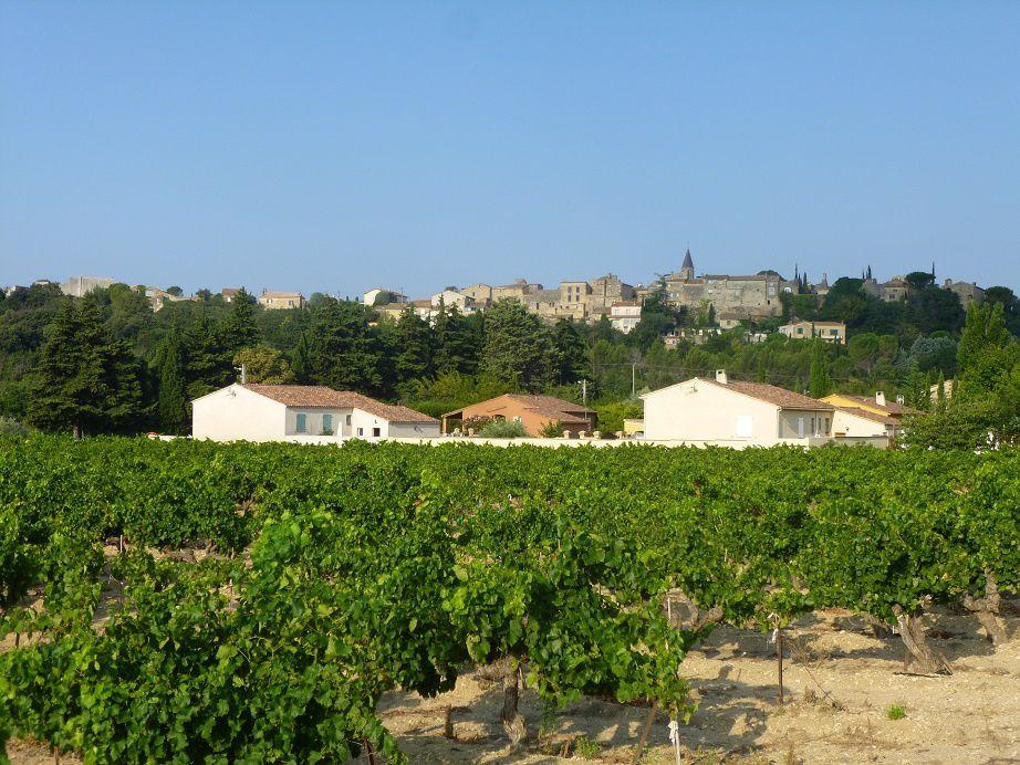 Castillon du Gard sur le rocher calcaire.