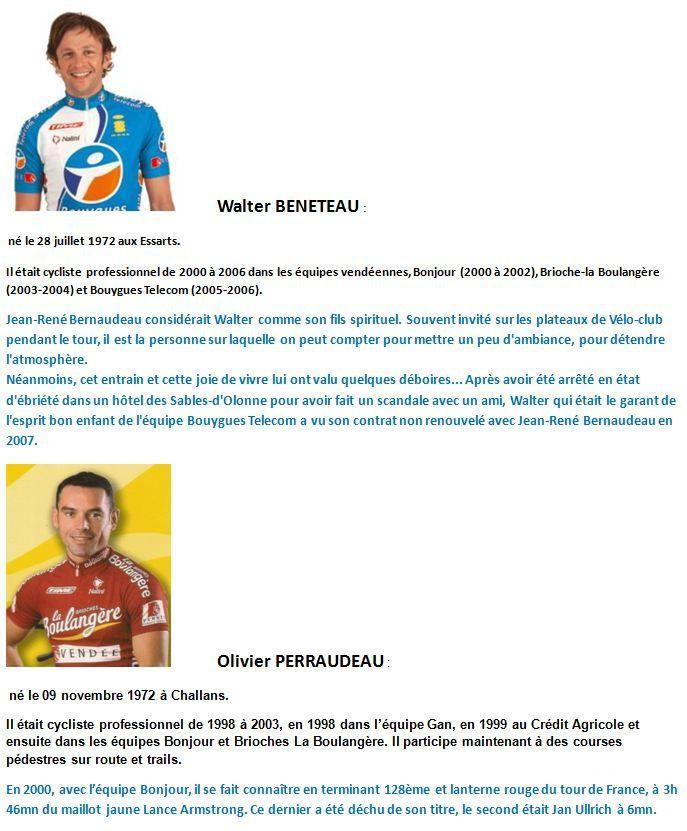 Les champions cyclistes vendéens