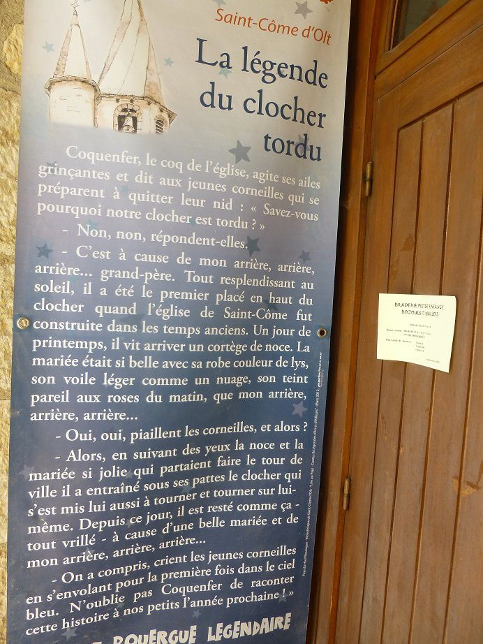 La légende du clocher tors.