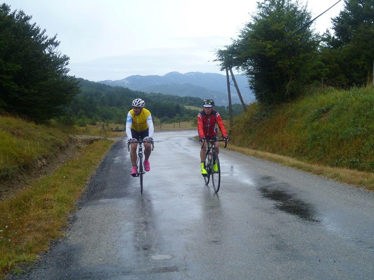 Yannick et Patrice dans le col de Linas.
