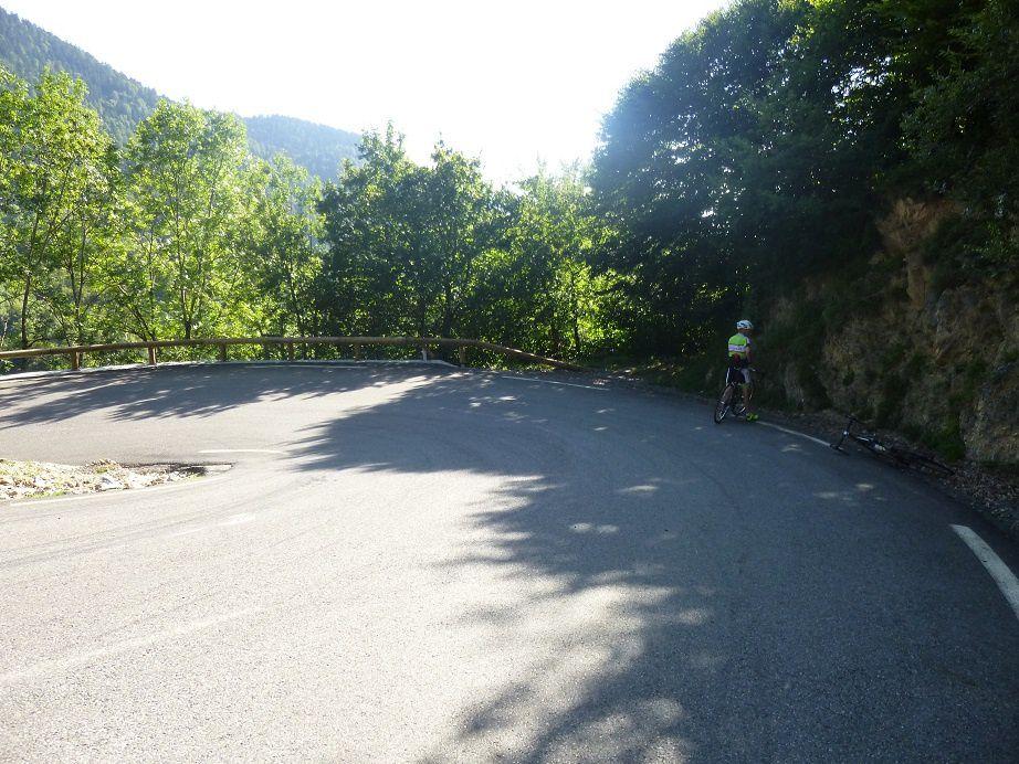 Le virage où Luis Ocana a quitté la route en 1971.