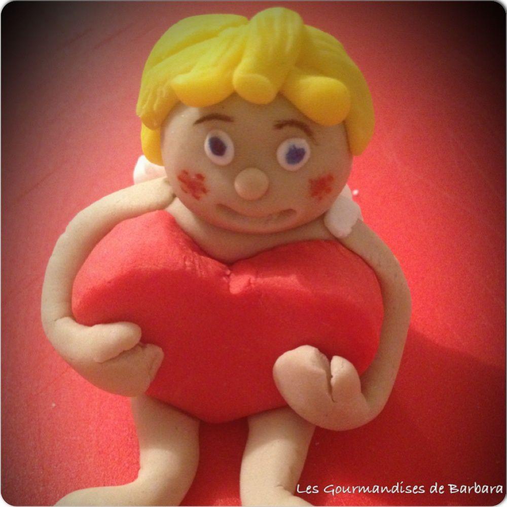 Mon Cupidon en pâte à sucre