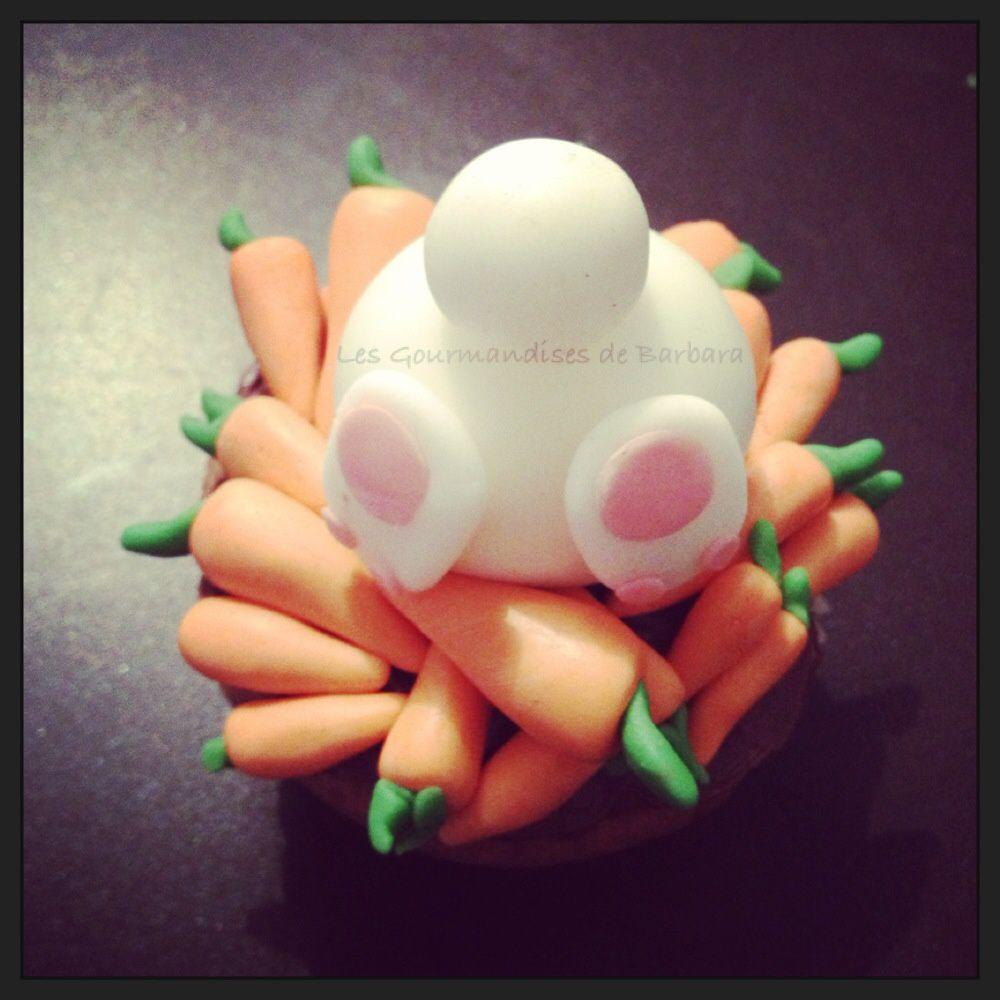 Cupcakes lapin et ses carottes for Faire des decors en pate a sucre