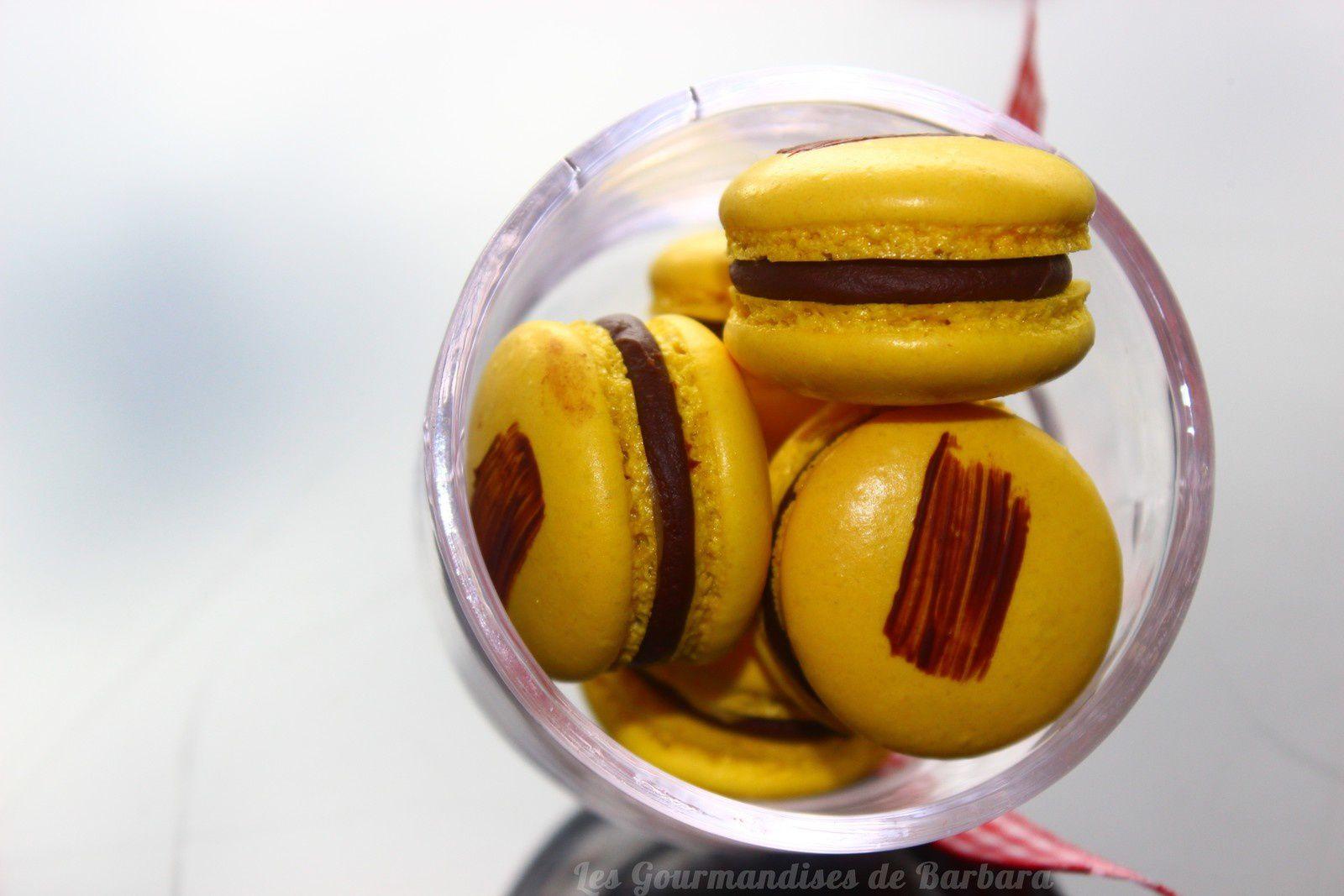 Macarons chocolat coeur citron