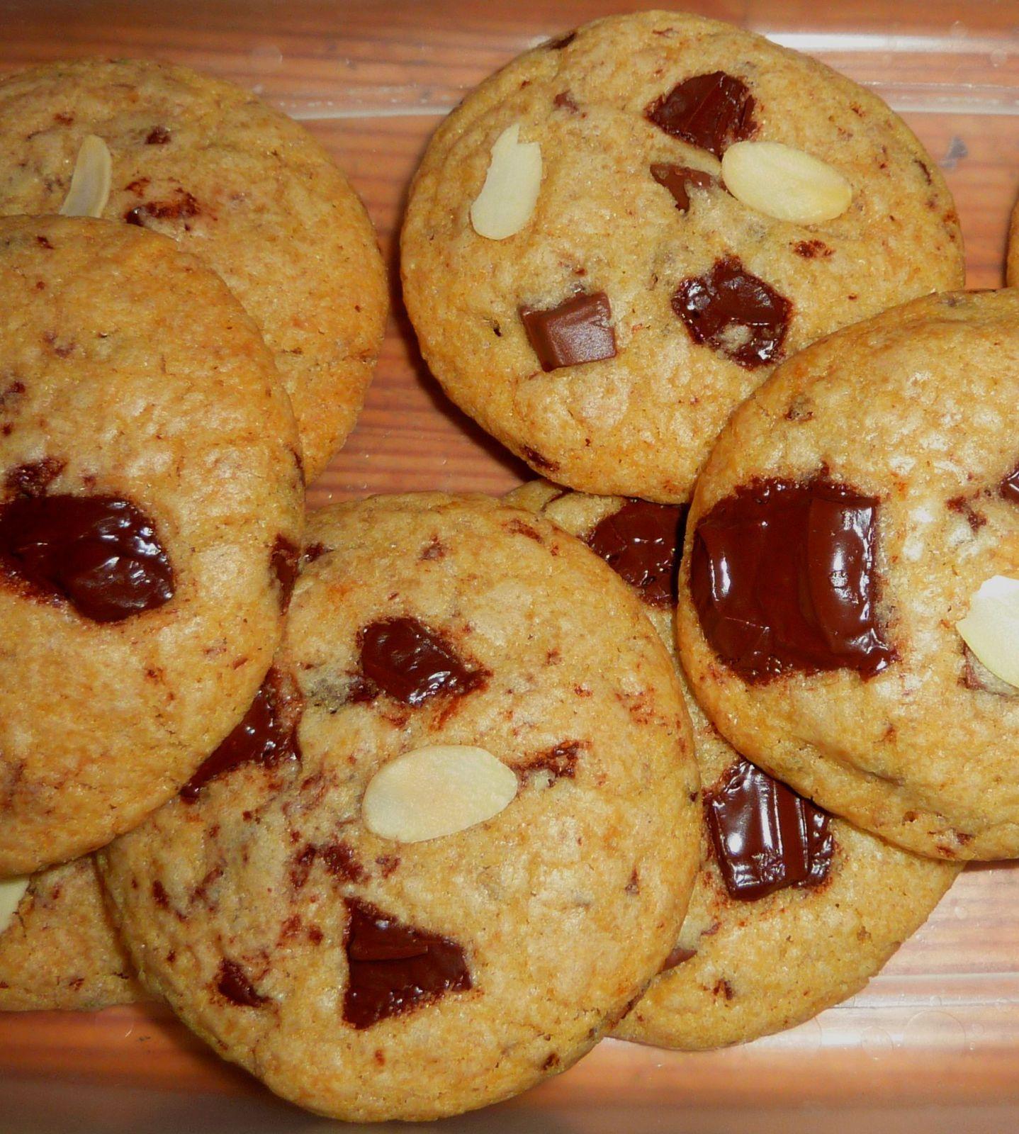 Chocolate Chips Cookies à la Nougatine vanillée