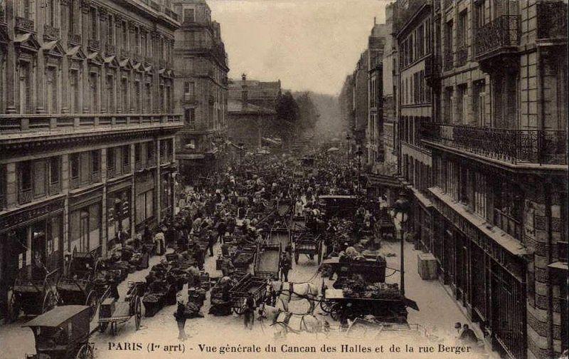 carte postale de la fin du XIXe ou du début du XXe siècle, Paris, Les Halles