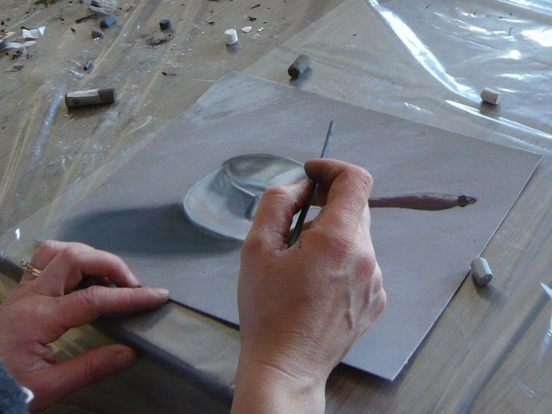 en atelier de pastel, février 2009