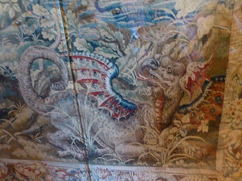 Château de Chenonceau, tapisserie des Flandres XVIè siècle, dragon ailé