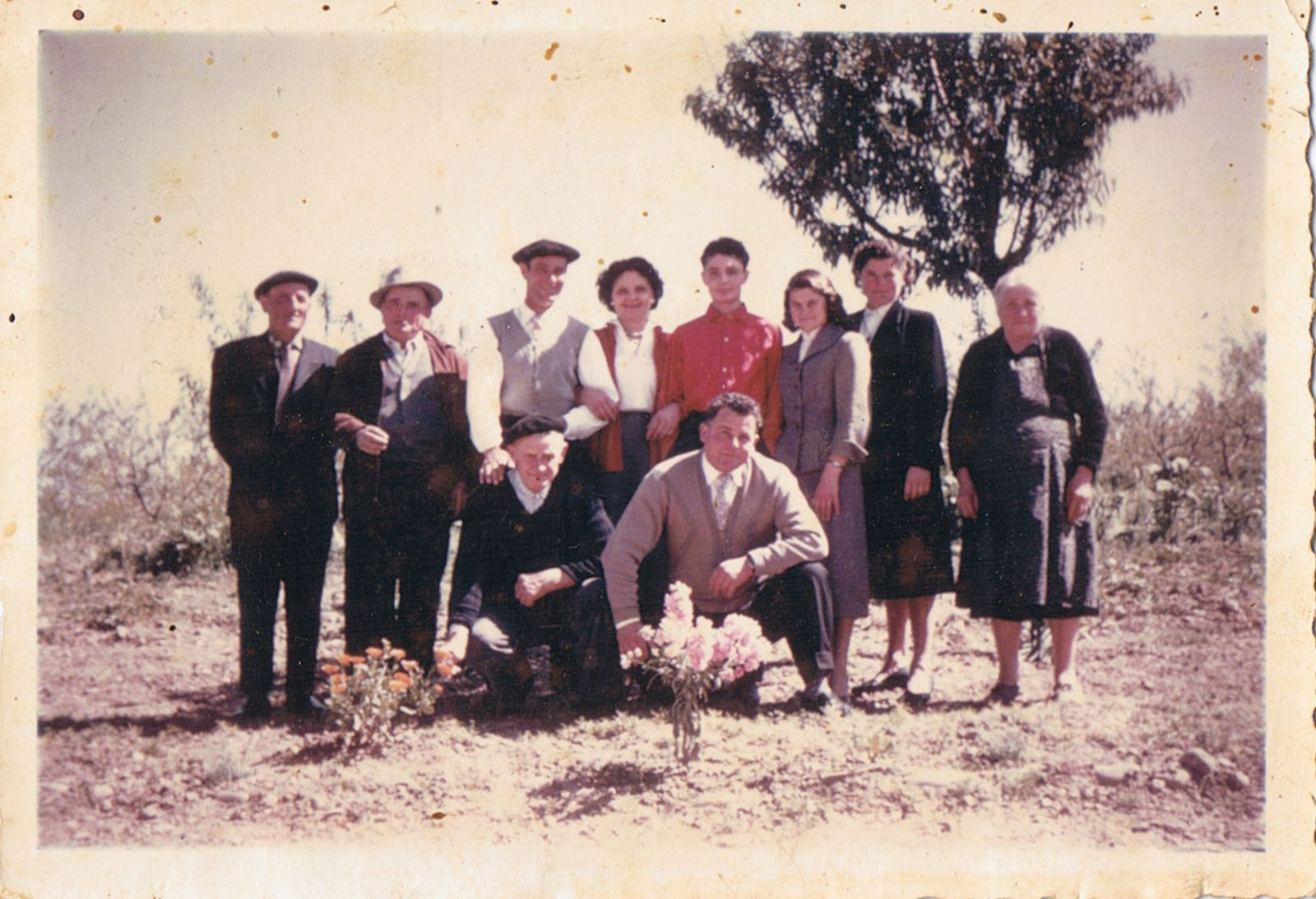 la famille Paolpi à Bel-Air en1965 (photo couleur), Paolo et Domenica Paolpi