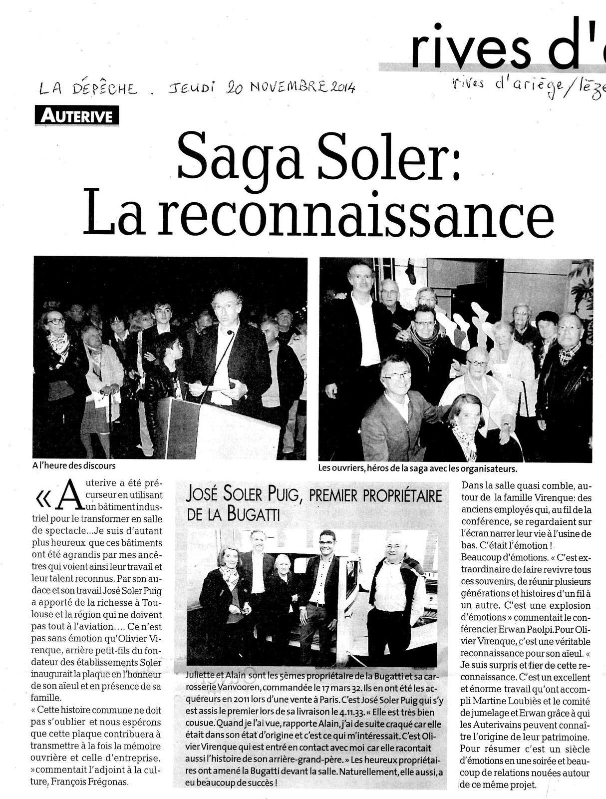 Conférence réussie sur les usines Soler et la laiterie de Nolet!!!