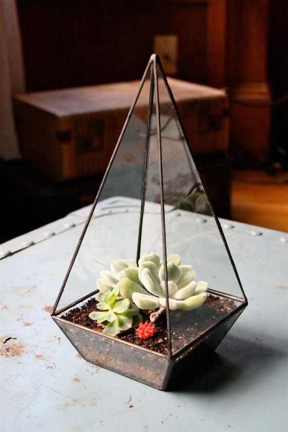 Terrarium - recycled glass - Esty