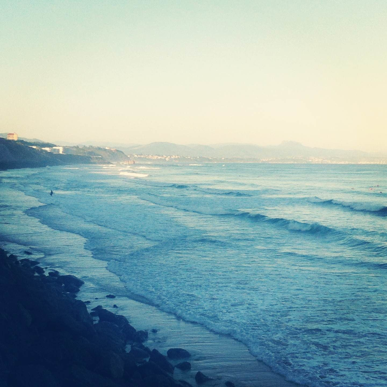 Côte des Basques, Biarritz au petit matin