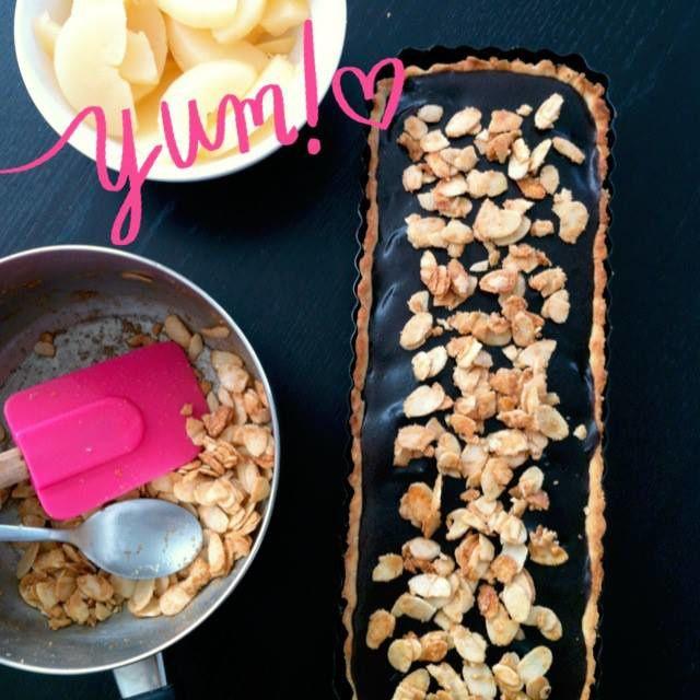 Recette : tarte poires chocolat de Sophie