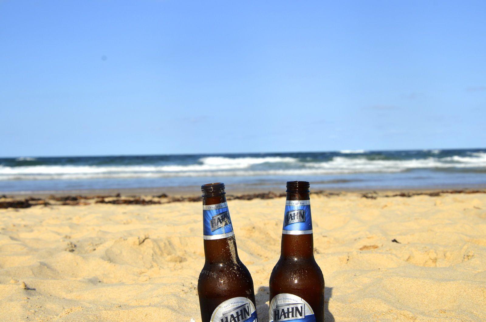 Nambucca heads, seuls sur la plage, coucher de soleil et dîner à Matilda's restaurant (yummi)