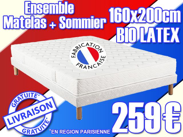 matelas sommier bio latex. Black Bedroom Furniture Sets. Home Design Ideas