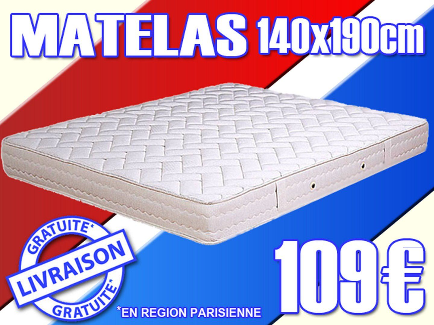 matelas 140x190 cm neuf garantie 5 ans anti crise. Black Bedroom Furniture Sets. Home Design Ideas