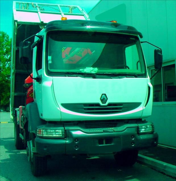 Camion Renault RVI 4x4 Benne Grue Palfinger 220 DCI Tel : 0608066192