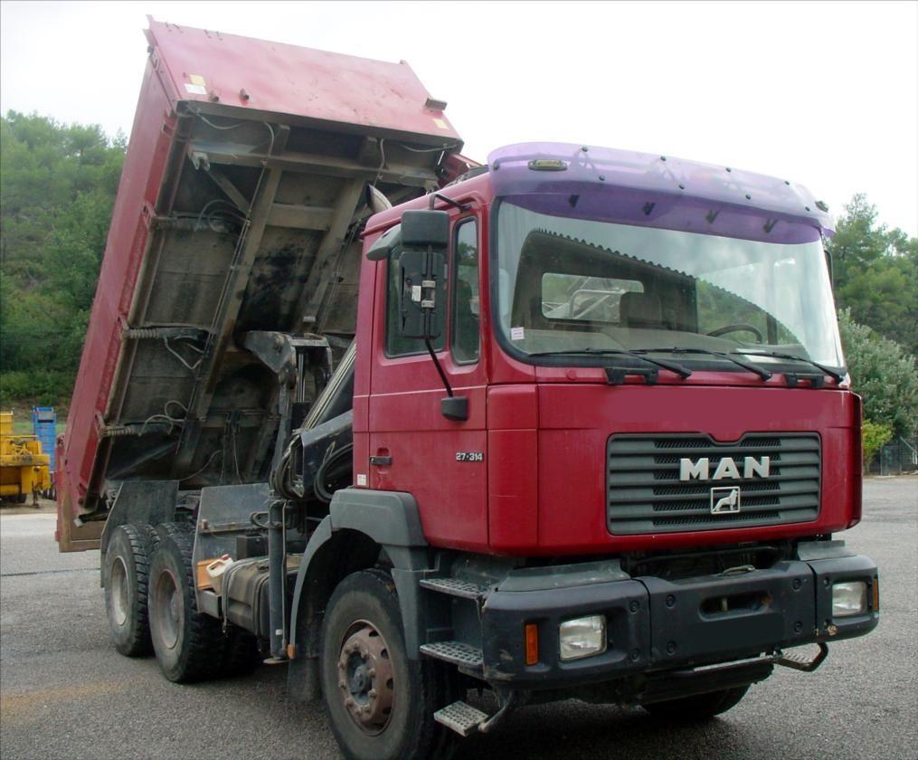 Camion 6x4 Bi Benne Hydraulique MAN 27-314 Tel: 0608066192