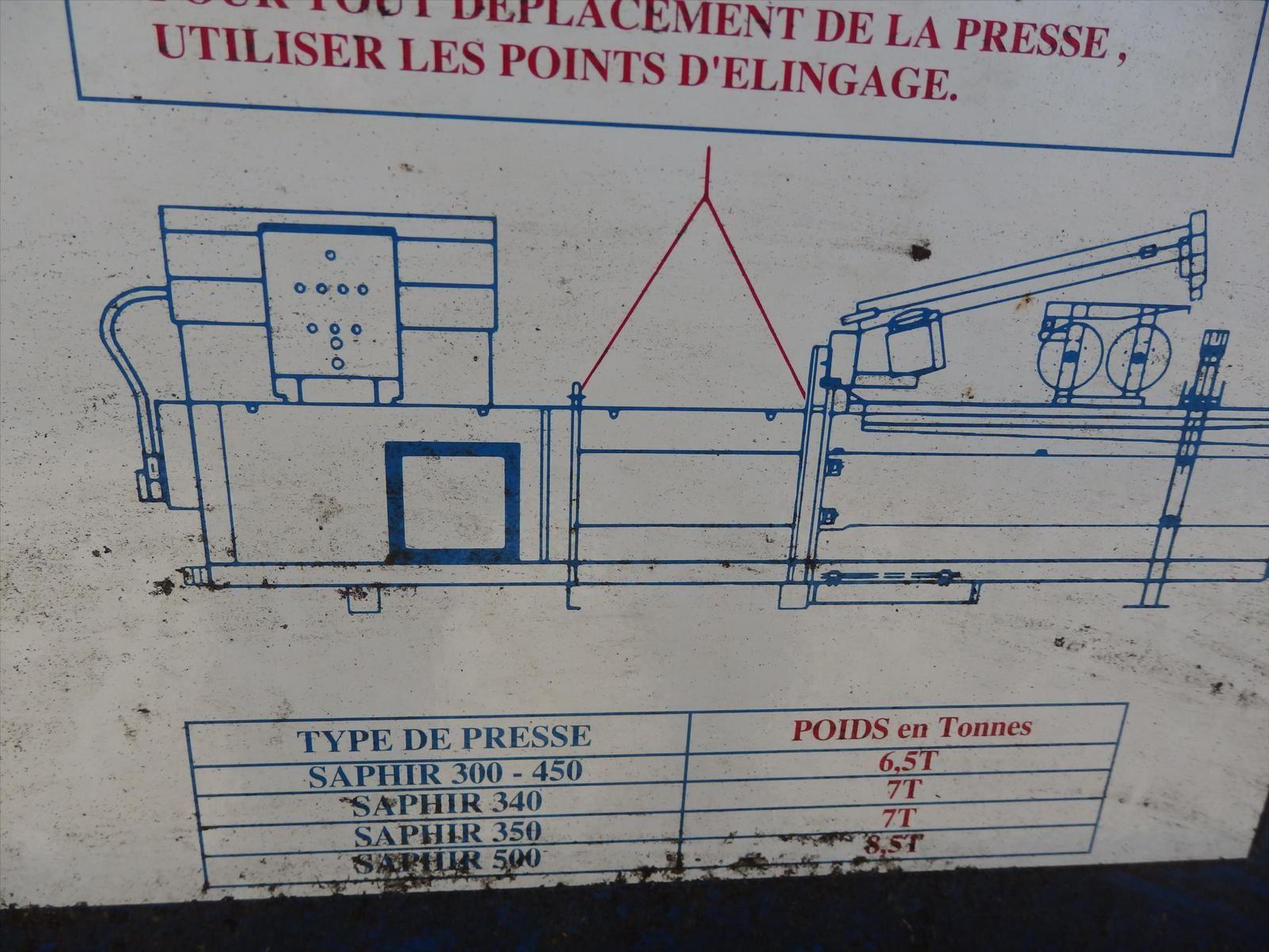 Presse SAPHIR Compacteur Carton Pierre BASSAT Tel: 0608066192