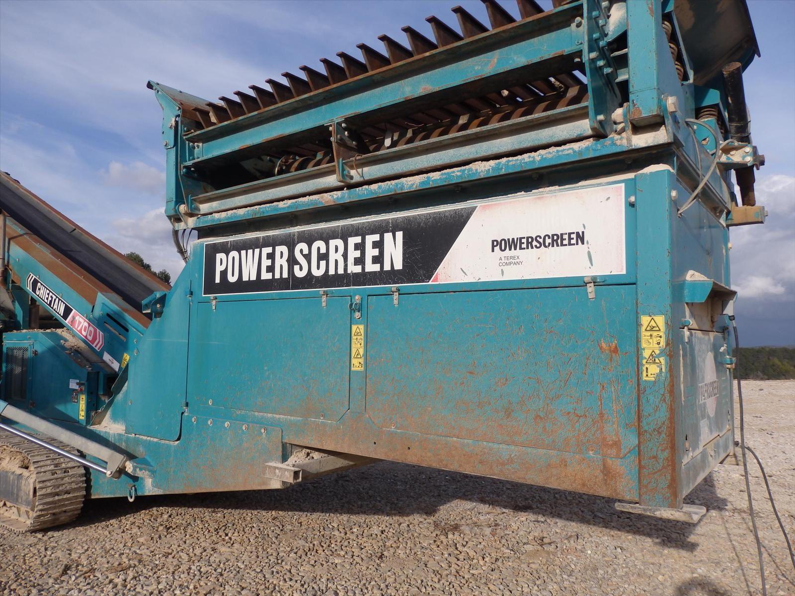 CRIBLE Carrière CHIEFTAIN 1700 Powerscreen Sur Chenilles Auto Tractée Tel: 0608066192 M. Pierre BASSAT