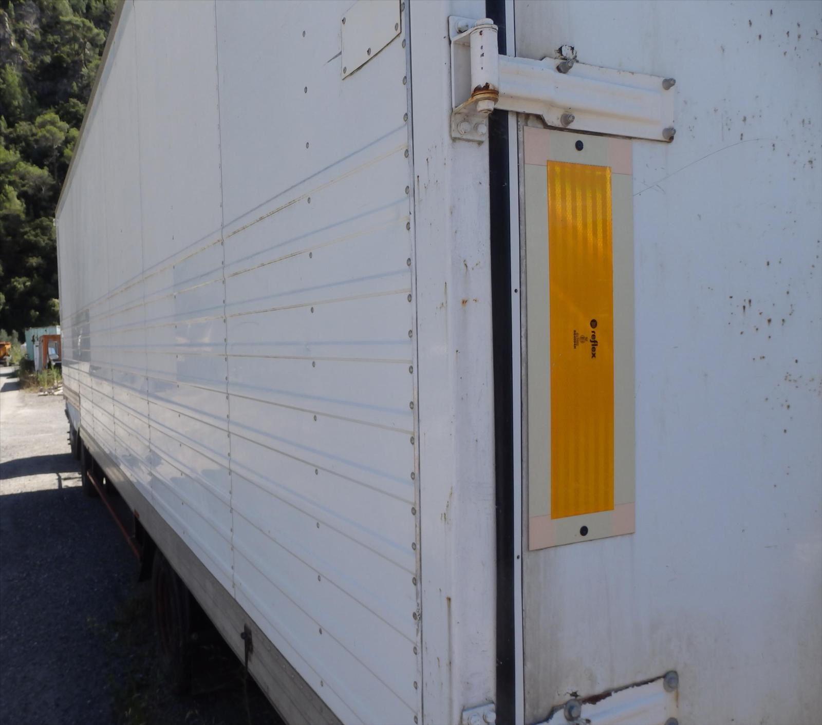 Camion Tracteur Renault B90 RVI SREM Semi Remorque Trouillet Fourgon Alu Tel: 0608066192 TRANSCOMM13 Pierre BASSAT