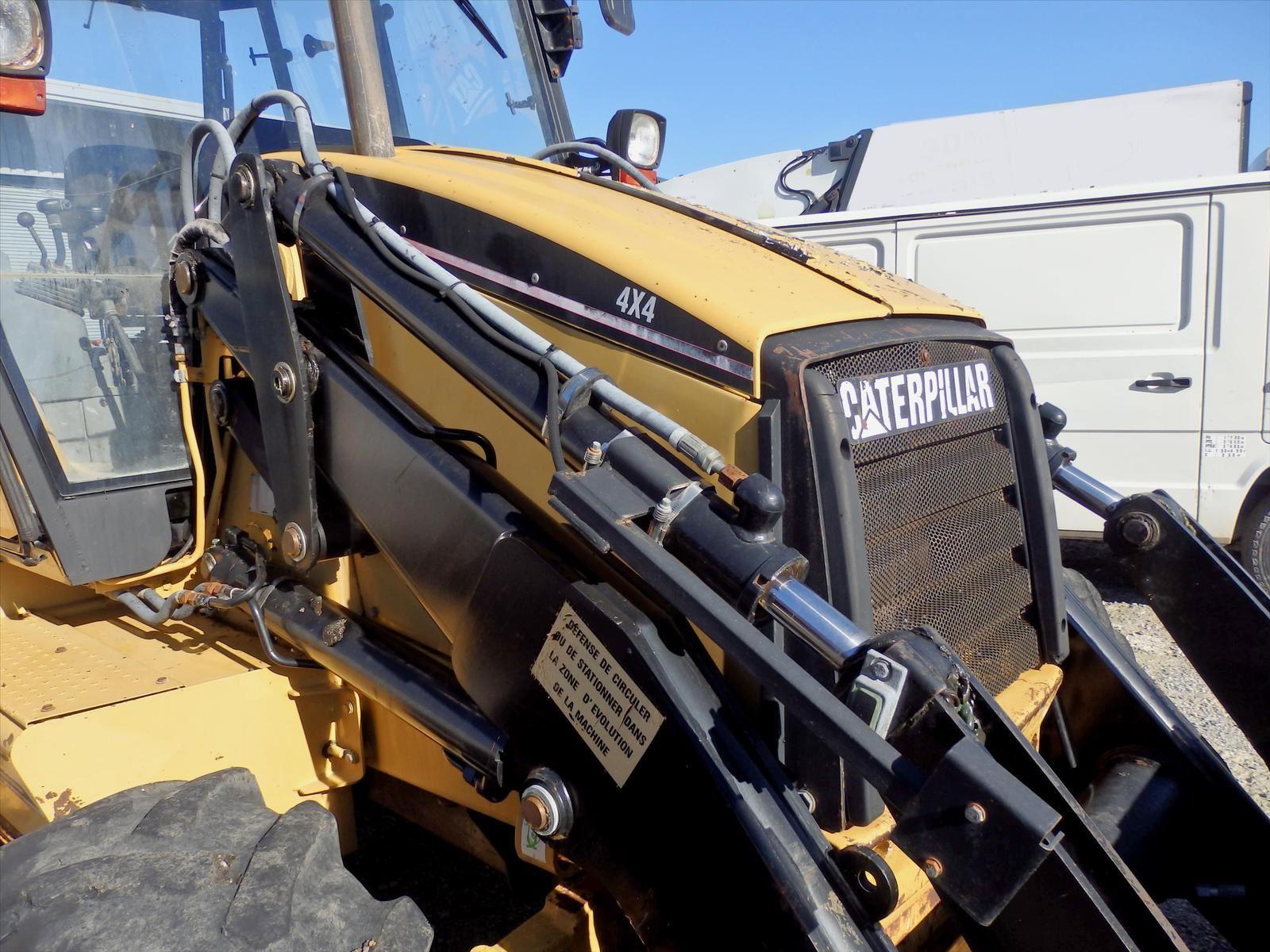 Tractopelle Caterpillar 4x4 CAT 180C Tel: 0608066192 TRANSCOMM13 Pierre BASSAT