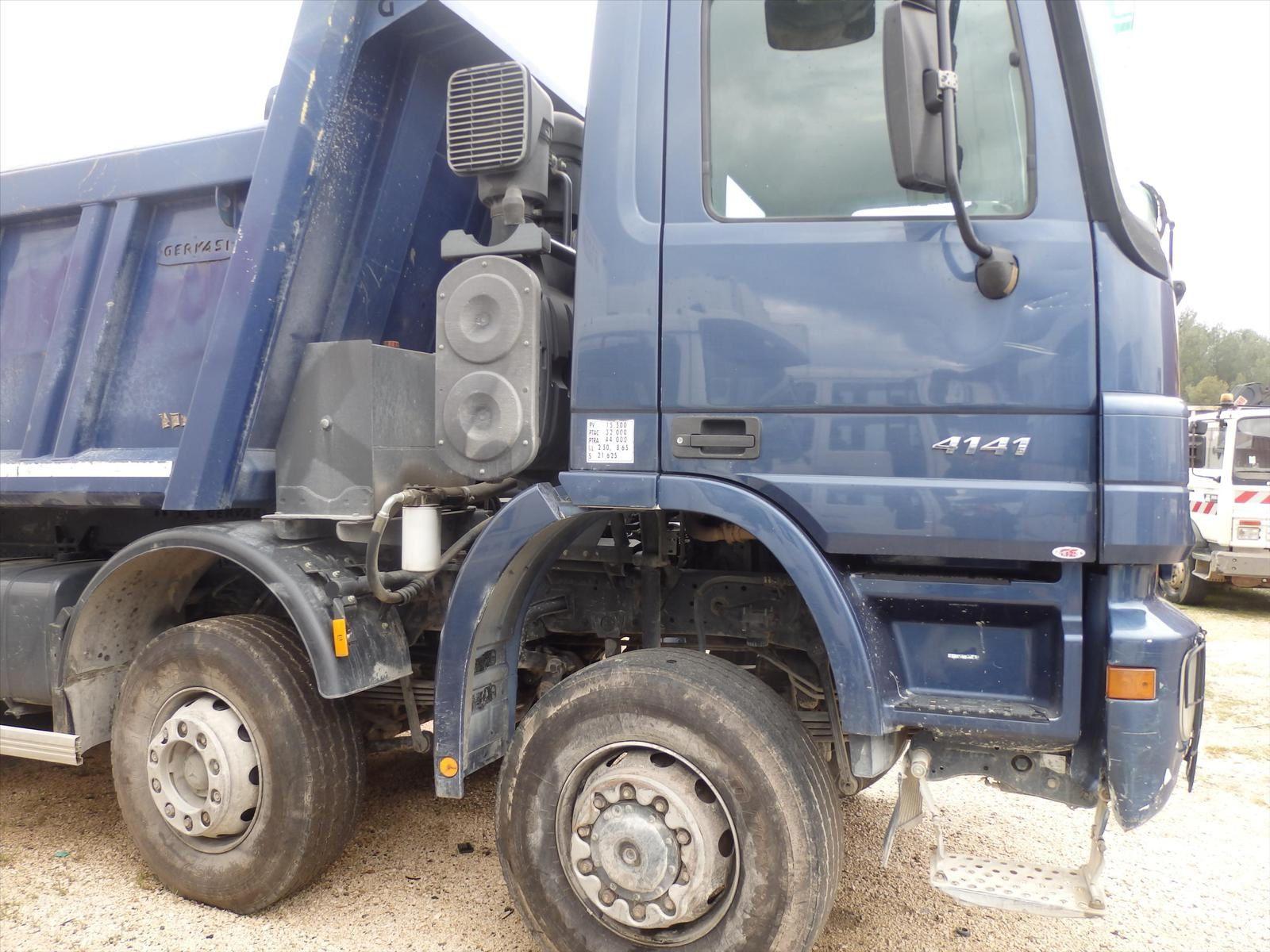 Camion MERCEDES ACTROS 4141 8x6 Benne Tel: 0608066192 TRANSCOMM13 Pierre BASSAT