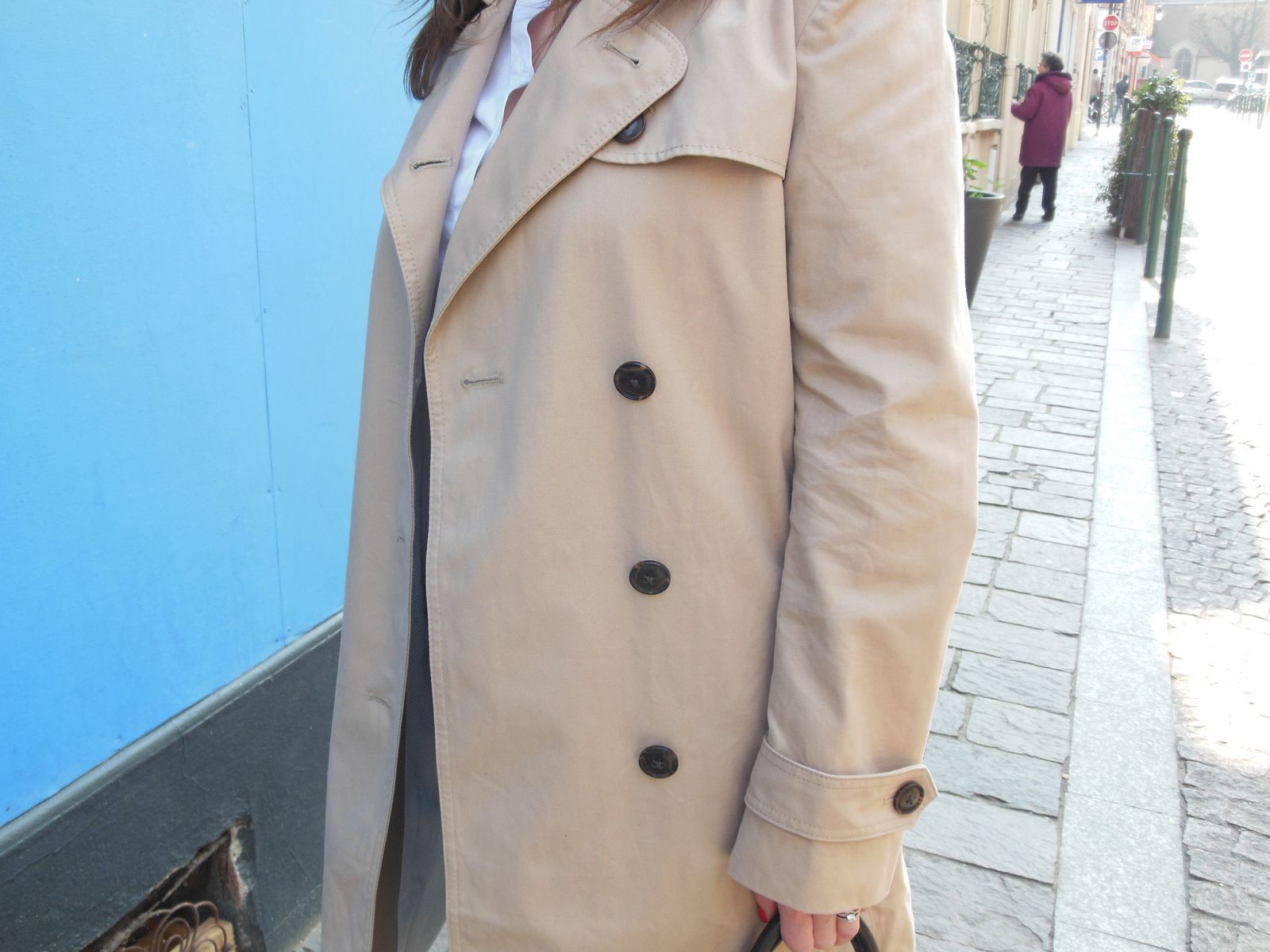 Trench - Gap // Chemise & Jeans - Zara // Pistol Boots - Acne // Sac - Coach