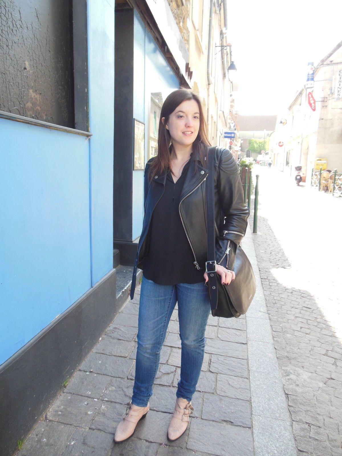 Blouson - Brooklyn Bridge Factory // Blouse & Jeans - Zara // Susanna Boots - Chloé // Sac - Coach
