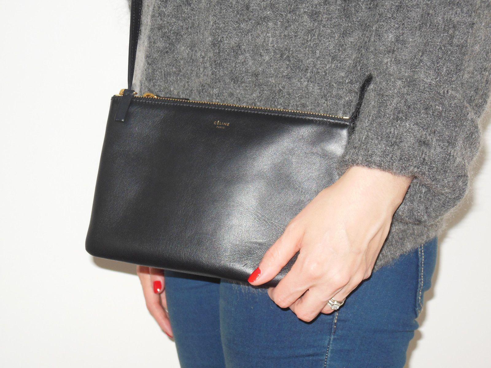 "Pull ""Dramatic"" - Acne Studios // Jeans - H&M // Boots - Perlato // Sac ""Trio Bag"" Céline"
