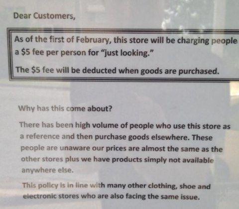 In Australia lo shopping on line costringe al biglietto nei negozi fisici