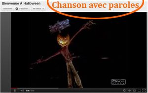 voici halloween paroles