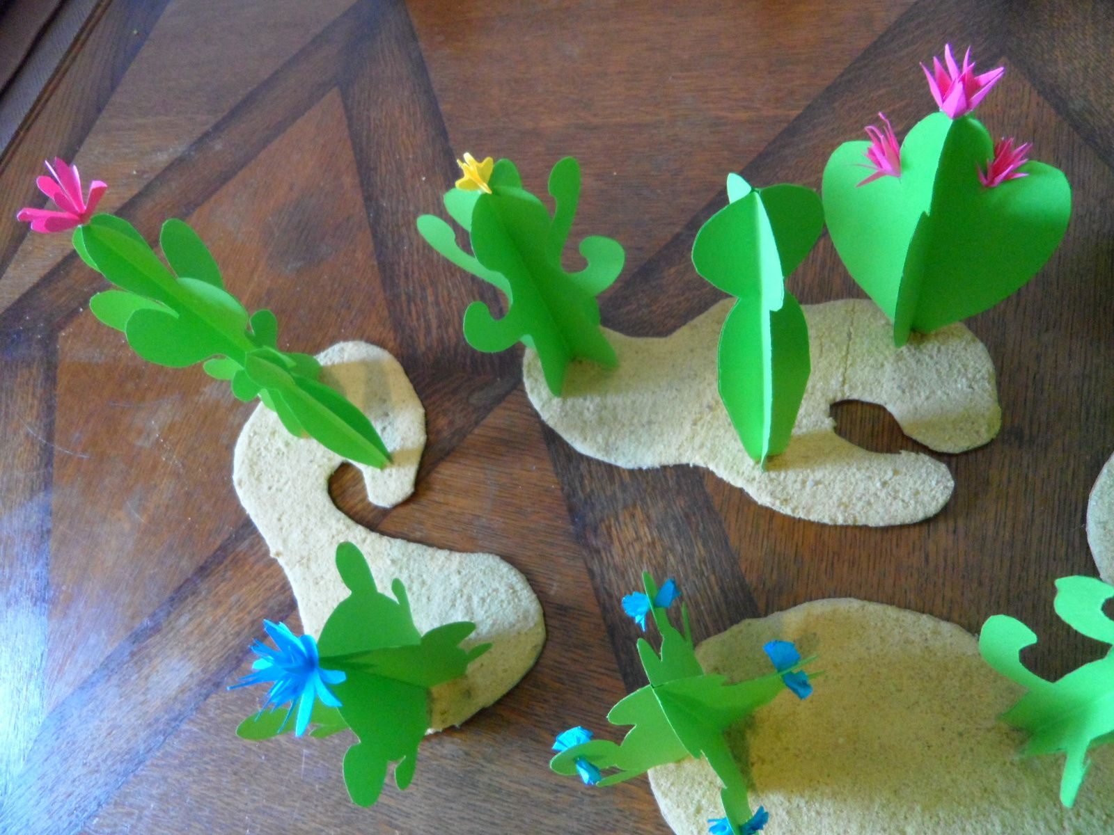 Cactus tuto faire savoie r - Creation papier crepon facile ...