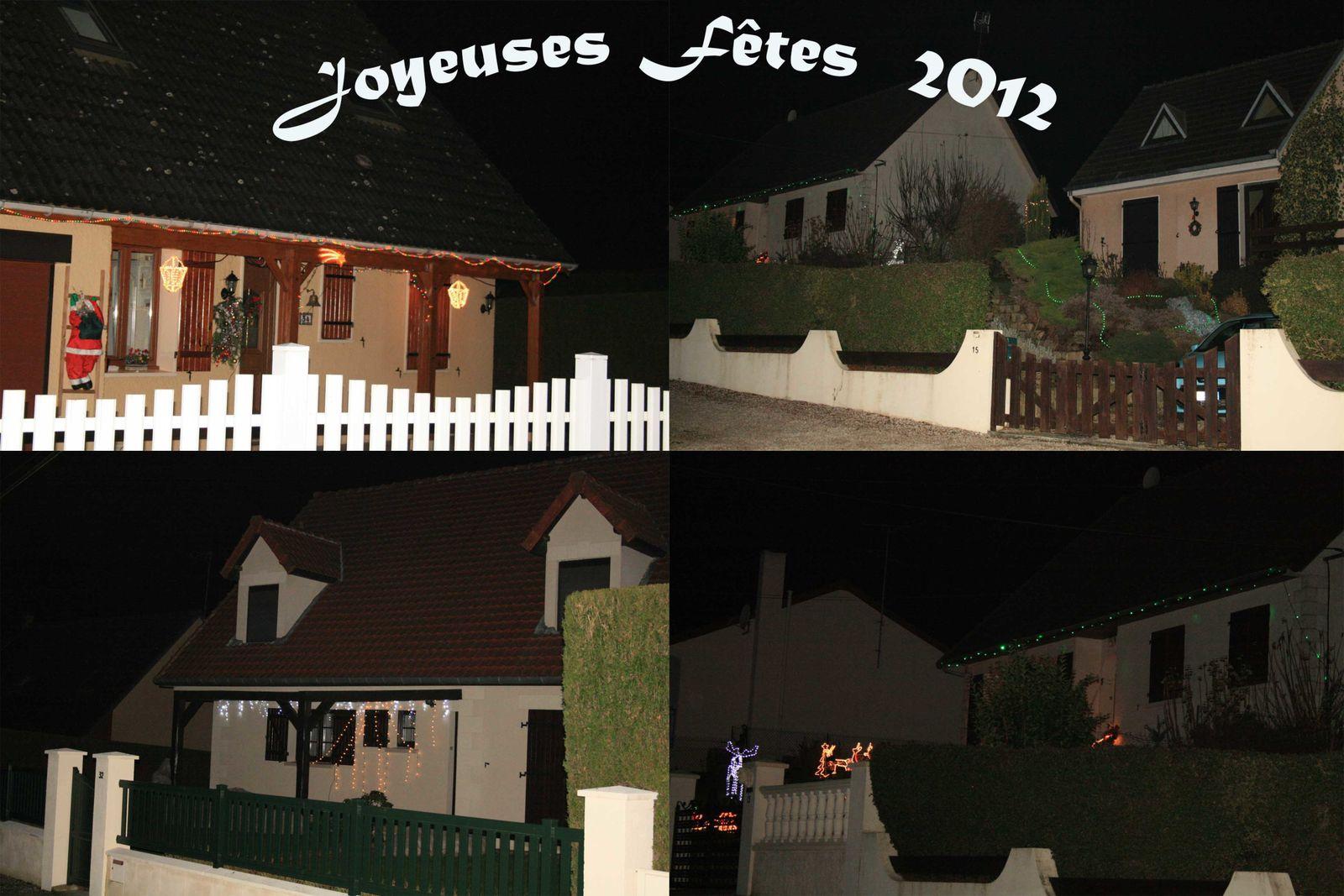 Illuminations dans notre village (décembre 2012)